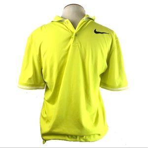 Nike Golf Yellow Polo Shirt Size Medium Dri Fit